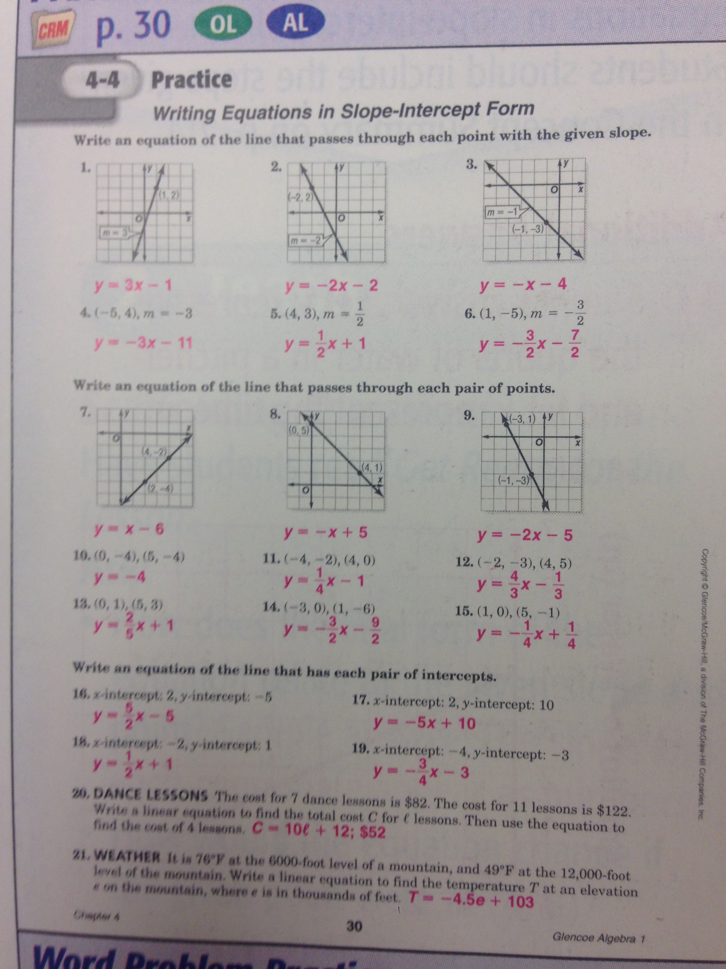 Workbook Answers - Mr. Grimes
