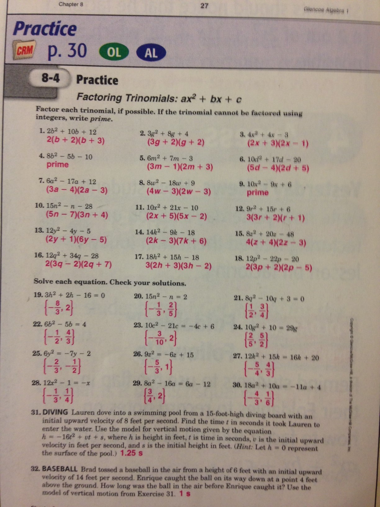 worksheet : workbook answers mr grimes : Factoring Practice Worksheet ...